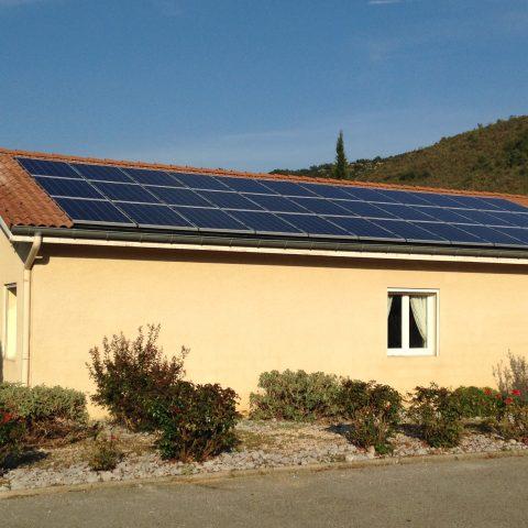 La centrale photovoltaïque d'OPE à la Zone du Lac à Privas