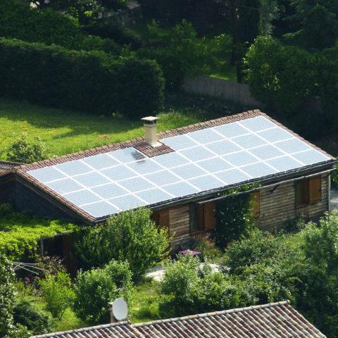 La Centrale photovoltaïque d'OPE à Coux