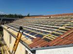 Le toit de la centrale du Lac avant la pause des panneaux phtovoltaïques.