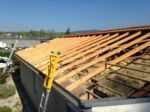 Le toit de la centrale du Lac durant les travaux.